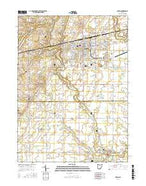 Bryan Ohio Current topographic map, 1:24000 scale, 7.5 X 7.5 Minute, Year 2016 from Ohio Map Store