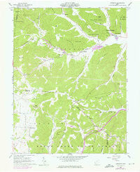 Byington Ohio Historical topographic map, 1:24000 scale, 7.5 X 7.5 Minute, Year 1961