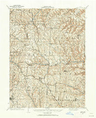 Cadiz Ohio Historical topographic map, 1:62500 scale, 15 X 15 Minute, Year 1901