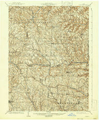 Cadiz Ohio Historical topographic map, 1:62500 scale, 15 X 15 Minute, Year 1903