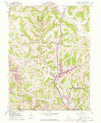 Caldwell North Ohio Historical topographic map, 1:24000 scale, 7.5 X 7.5 Minute, Year 1961
