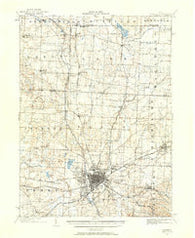 Canton Ohio Historical topographic map, 1:62500 scale, 15 X 15 Minute, Year 1901