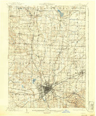 Canton Ohio Historical topographic map, 1:62500 scale, 15 X 15 Minute, Year 1903