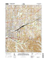 Canton East Ohio Current topographic map, 1:24000 scale, 7.5 X 7.5 Minute, Year 2016 from Ohio Maps Store