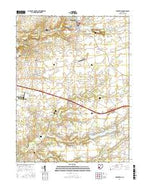 Cedarville Ohio Current topographic map, 1:24000 scale, 7.5 X 7.5 Minute, Year 2016 from Ohio Map Store