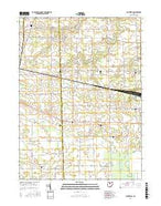 Centerton Ohio Current topographic map, 1:24000 scale, 7.5 X 7.5 Minute, Year 2016 from Ohio Map Store