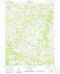Chesterhill Ohio Historical topographic map, 1:24000 scale, 7.5 X 7.5 Minute, Year 1961