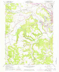 Chillicothe West Ohio Historical topographic map, 1:24000 scale, 7.5 X 7.5 Minute, Year 1961