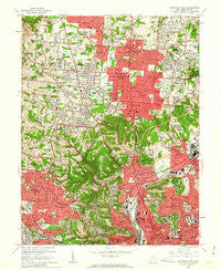 Cincinnati West Ohio Historical topographic map, 1:24000 scale, 7.5 X 7.5 Minute, Year 1961
