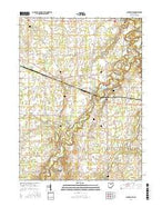 Clarksfield Ohio Current topographic map, 1:24000 scale, 7.5 X 7.5 Minute, Year 2016 from Ohio Map Store