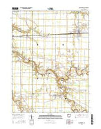 Continental Ohio Current topographic map, 1:24000 scale, 7.5 X 7.5 Minute, Year 2016 from Ohio Map Store