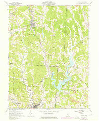 Corning Ohio Historical topographic map, 1:24000 scale, 7.5 X 7.5 Minute, Year 1961