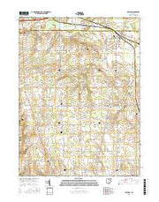 Creston Ohio Current topographic map, 1:24000 scale, 7.5 X 7.5 Minute, Year 2016 from Ohio Maps Store