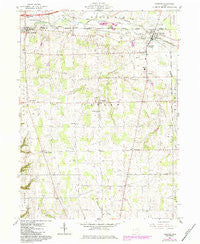 Creston Ohio Historical topographic map, 1:24000 scale, 7.5 X 7.5 Minute, Year 1961