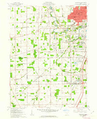 Cridersville Ohio Historical topographic map, 1:24000 scale, 7.5 X 7.5 Minute, Year 1961