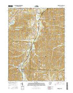 Crooksville Ohio Current topographic map, 1:24000 scale, 7.5 X 7.5 Minute, Year 2016 from Ohio Map Store