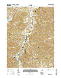 Crooksville Ohio Current topographic map, 1:24000 scale, 7.5 X 7.5 Minute, Year 2016