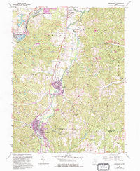 Crooksville Ohio Historical topographic map, 1:24000 scale, 7.5 X 7.5 Minute, Year 1961