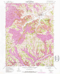 Cumberland Ohio Historical topographic map, 1:24000 scale, 7.5 X 7.5 Minute, Year 1961