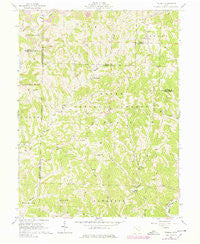 Dalzell Ohio Historical topographic map, 1:24000 scale, 7.5 X 7.5 Minute, Year 1961