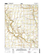 Darbyville Ohio Current topographic map, 1:24000 scale, 7.5 X 7.5 Minute, Year 2016 from Ohio Map Store