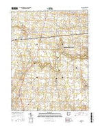 Dawn Ohio Current topographic map, 1:24000 scale, 7.5 X 7.5 Minute, Year 2016 from Ohio Map Store