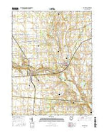De Graff Ohio Current topographic map, 1:24000 scale, 7.5 X 7.5 Minute, Year 2016 from Ohio Map Store
