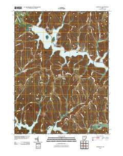 Deersville Ohio Historical topographic map, 1:24000 scale, 7.5 X 7.5 Minute, Year 2010