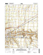 Defiance East Ohio Current topographic map, 1:24000 scale, 7.5 X 7.5 Minute, Year 2016 from Ohio Map Store