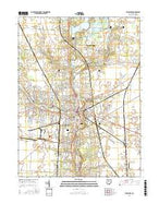 Delaware Ohio Current topographic map, 1:24000 scale, 7.5 X 7.5 Minute, Year 2016 from Ohio Map Store
