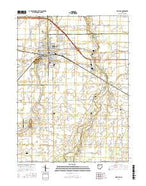 Delphos Ohio Current topographic map, 1:24000 scale, 7.5 X 7.5 Minute, Year 2016 from Ohio Map Store