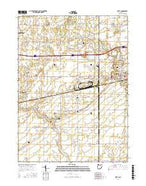 Delta Ohio Current topographic map, 1:24000 scale, 7.5 X 7.5 Minute, Year 2016 from Ohio Map Store