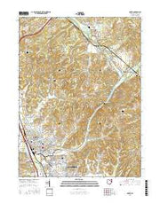 Dover Ohio Current topographic map, 1:24000 scale, 7.5 X 7.5 Minute, Year 2016 from Ohio Maps Store