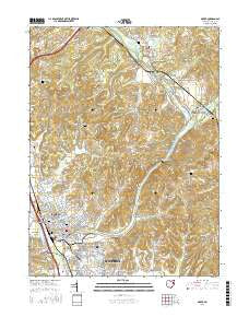 Dover Ohio Current topographic map, 1:24000 scale, 7.5 X 7.5 Minute, Year 2016