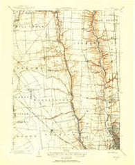 Dublin Ohio Historical topographic map, 1:62500 scale, 15 X 15 Minute, Year 1901