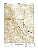 East Liberty Ohio Current topographic map, 1:24000 scale, 7.5 X 7.5 Minute, Year 2016 from Ohio Map Store
