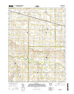 Elgin Ohio Current topographic map, 1:24000 scale, 7.5 X 7.5 Minute, Year 2016 from Ohio Map Store