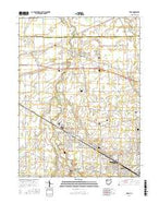 Elida Ohio Current topographic map, 1:24000 scale, 7.5 X 7.5 Minute, Year 2016 from Ohio Map Store