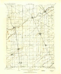 Elmore Ohio Historical topographic map, 1:62500 scale, 15 X 15 Minute, Year 1901