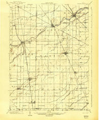 Elmore Ohio Historical topographic map, 1:62500 scale, 15 X 15 Minute, Year 1903