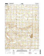 Erastus Ohio Current topographic map, 1:24000 scale, 7.5 X 7.5 Minute, Year 2016 from Ohio Map Store