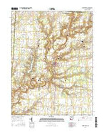 Fayetteville Ohio Current topographic map, 1:24000 scale, 7.5 X 7.5 Minute, Year 2016 from Ohio Map Store