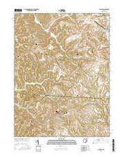 Flushing Ohio Current topographic map, 1:24000 scale, 7.5 X 7.5 Minute, Year 2016 from Ohio Maps Store