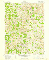 Flushing Ohio Historical topographic map, 1:24000 scale, 7.5 X 7.5 Minute, Year 1961