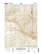 Foraker Ohio Current topographic map, 1:24000 scale, 7.5 X 7.5 Minute, Year 2016 from Ohio Map Store