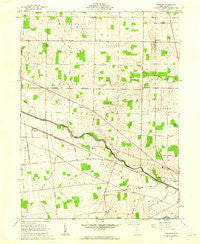 Foraker Ohio Historical topographic map, 1:24000 scale, 7.5 X 7.5 Minute, Year 1961
