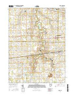 Forest Ohio Current topographic map, 1:24000 scale, 7.5 X 7.5 Minute, Year 2016 from Ohio Map Store