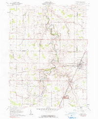 Forest Ohio Historical topographic map, 1:24000 scale, 7.5 X 7.5 Minute, Year 1961
