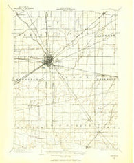 Fostoria Ohio Historical topographic map, 1:62500 scale, 15 X 15 Minute, Year 1901