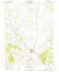 Frankfort Ohio Historical topographic map, 1:24000 scale, 7.5 X 7.5 Minute, Year 1961